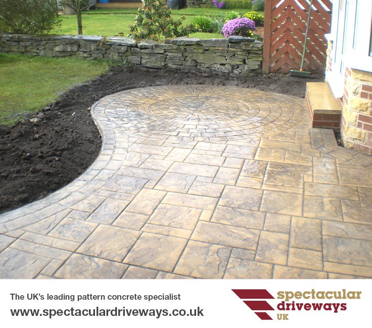 Pattern Imprinted Concrete Patios In The UK